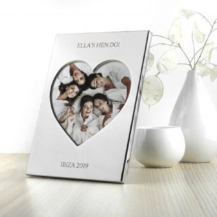 Silver plated heart photo frame